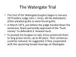 the watergate trial