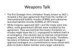 weapons talk