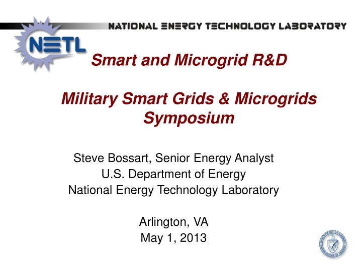 smart and microgrid r d military smart grids microgrids symposium n.
