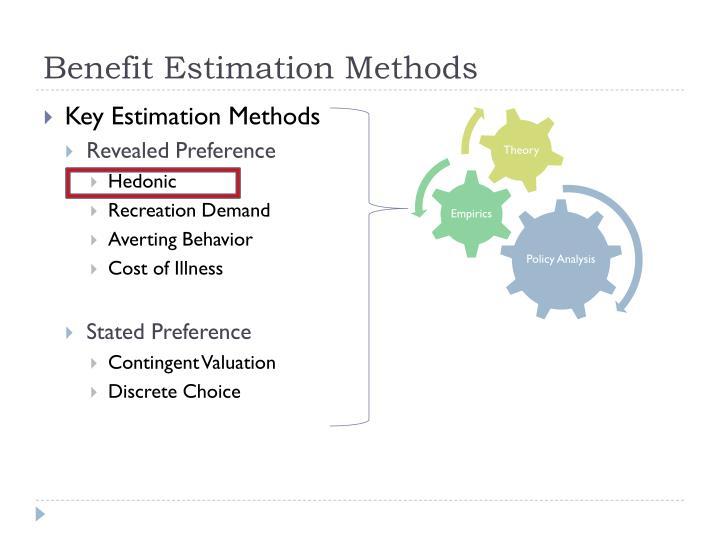 Benefit Estimation Methods