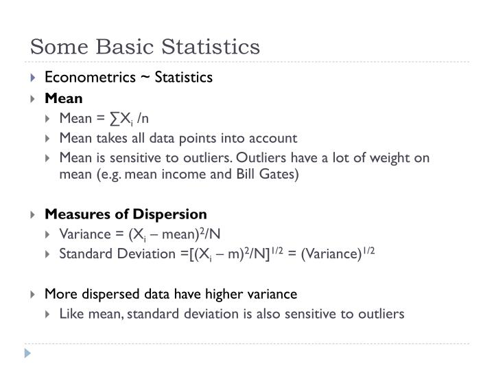 Some Basic Statistics