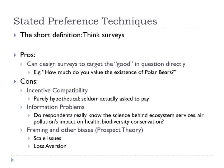 Stated Preference Techniques