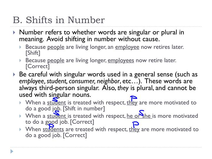 B. Shifts in Number