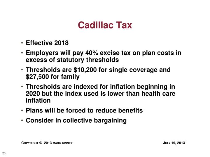 Cadillac Tax