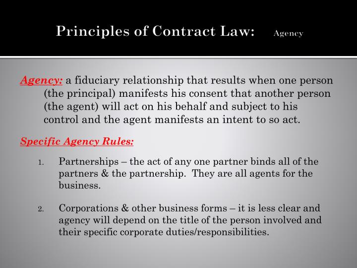 Principles of Contract Law: