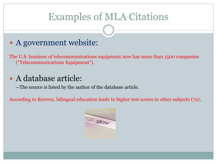 Examples of MLA Citations