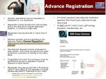 advance registration
