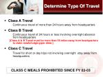 determine type of travel