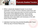 physically disabled travelers