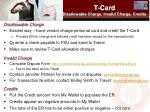 t card disallowable charge invalid charge credits
