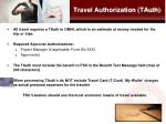 travel authorization tauth