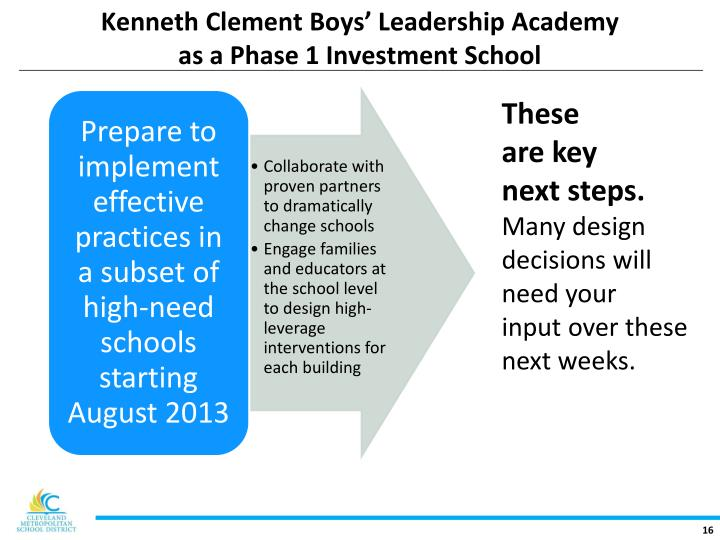 Kenneth Clement Boys' Leadership Academy