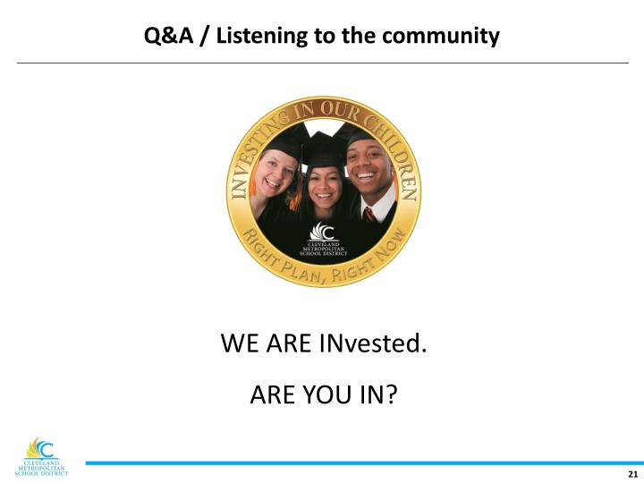 Q&A / Listening to the community