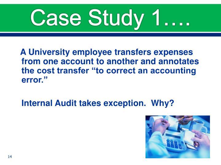 Case Study 1….