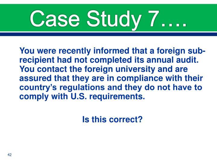 Case Study 7….