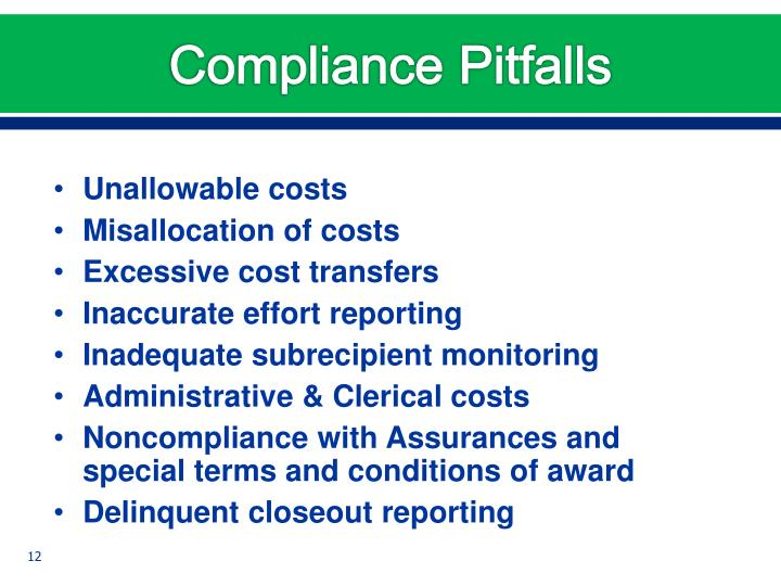 Compliance Pitfalls