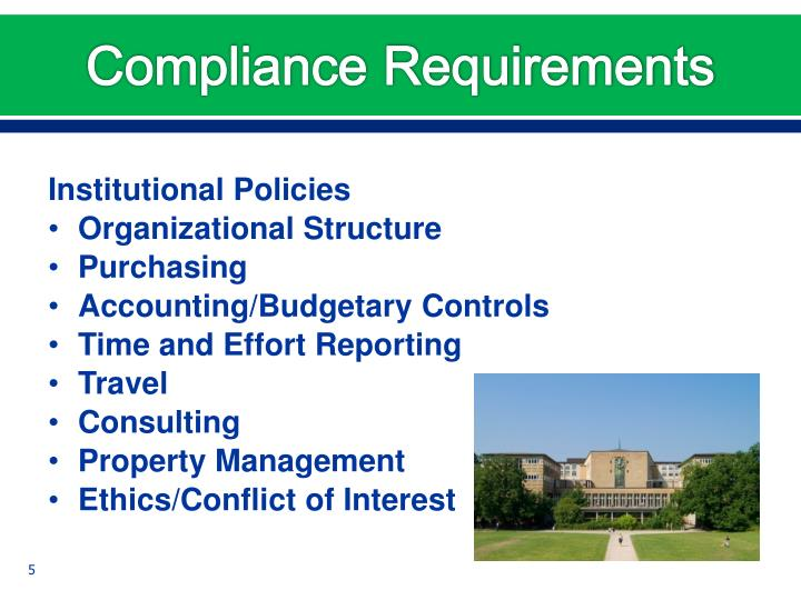 Compliance Requirements