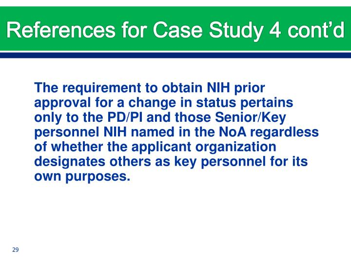 References for Case Study 4 cont'd