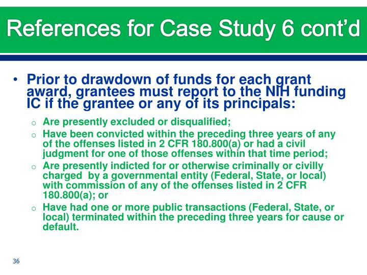 References for Case Study