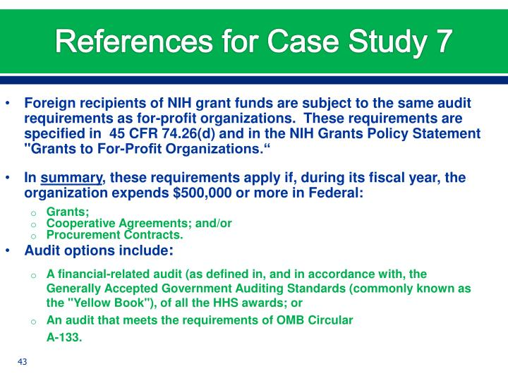 References for Case Study 7