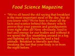 food science magazine