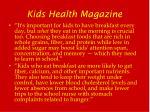 kids health magazine