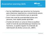 associative learning skills