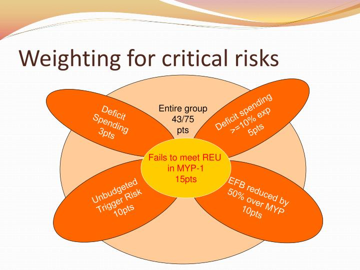 Weighting for critical risks