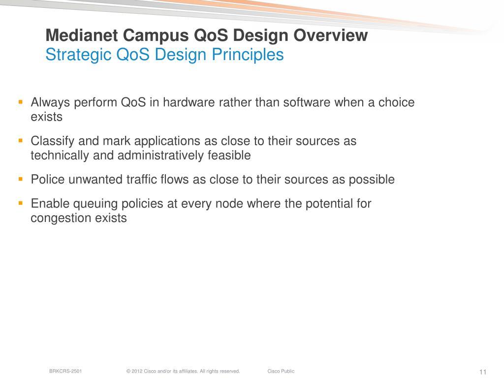 PPT - Medianet QoS Design— Simplified PowerPoint
