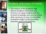 academy of business finance