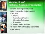 member of naf national academy foundation