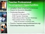 teacher professional development opportunities