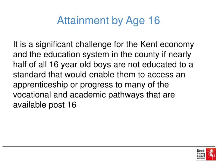 Attainment by Age 16