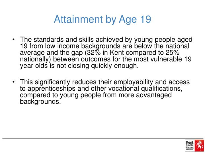 Attainment by Age 19