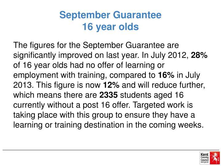 September Guarantee