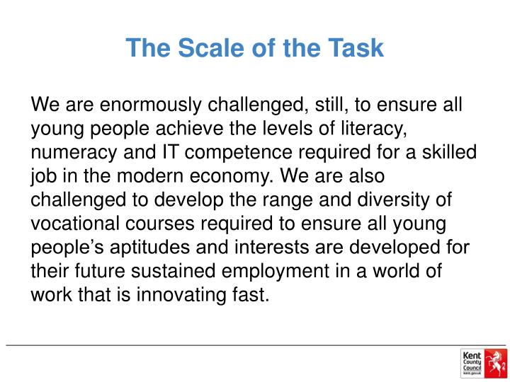 The Scale of the Task