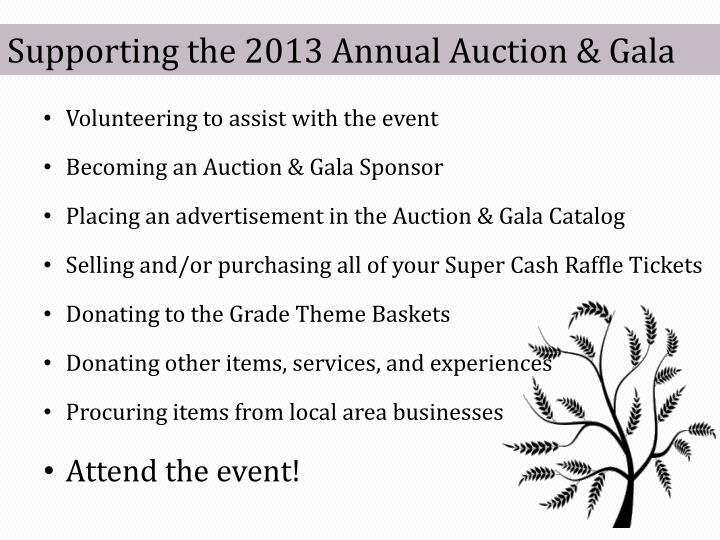 Supporting the 2013 Annual Auction & Gala