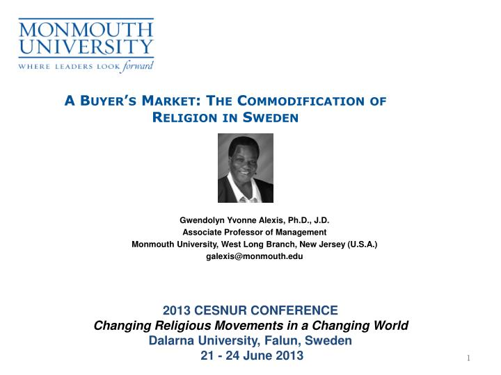 a buyer s market the commodification of religion in sweden n.
