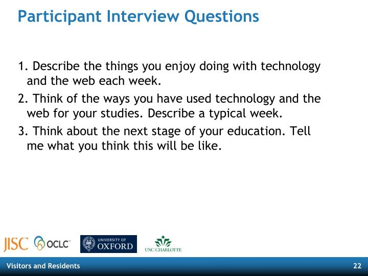 Participant Interview Questions