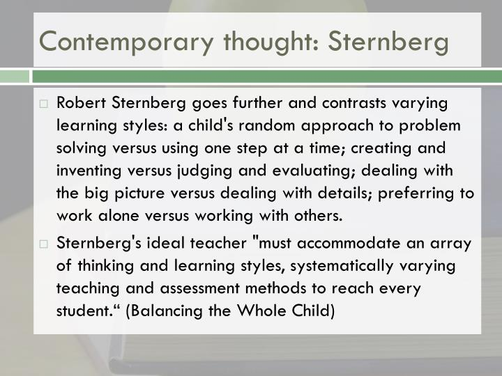 Contemporary thought: Sternberg