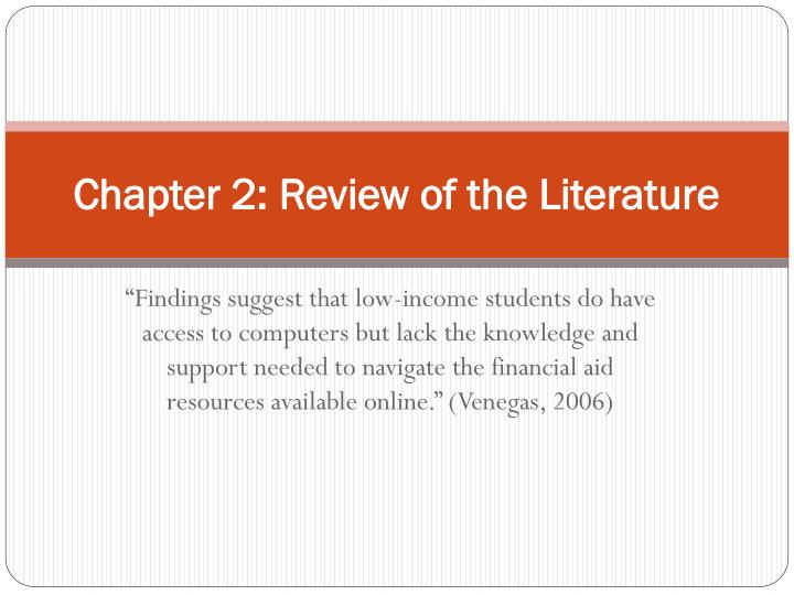 Chapter 2: Review of the Literature