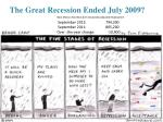 the great recession ended july 2009