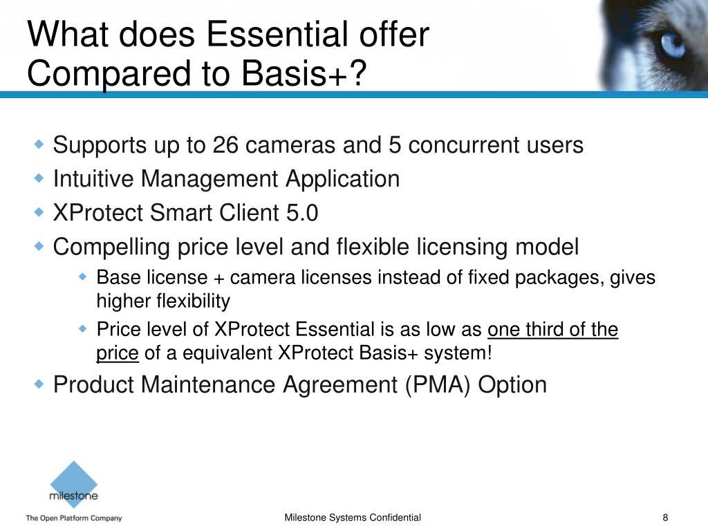 PPT - Milestone XProtect™ Essential 1 0 - Brilliant
