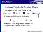 likelihood function for random effects