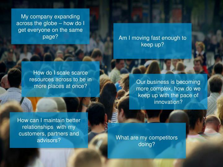 Business complexities increasing