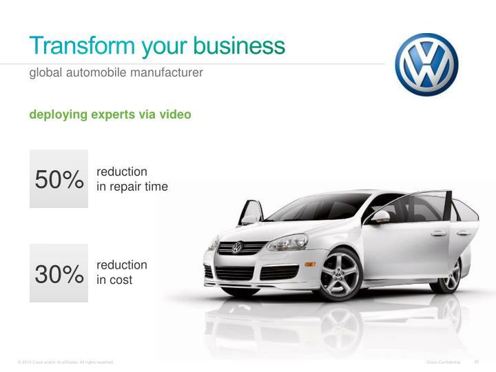 Transform your business