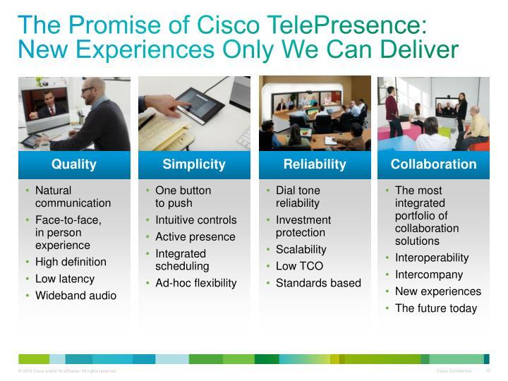 The Promise of Cisco TelePresence: