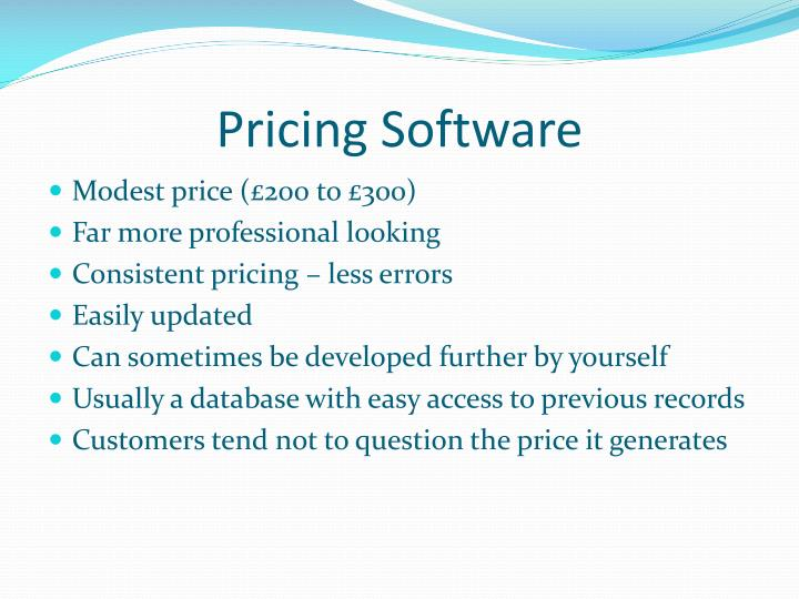 Pricing Software