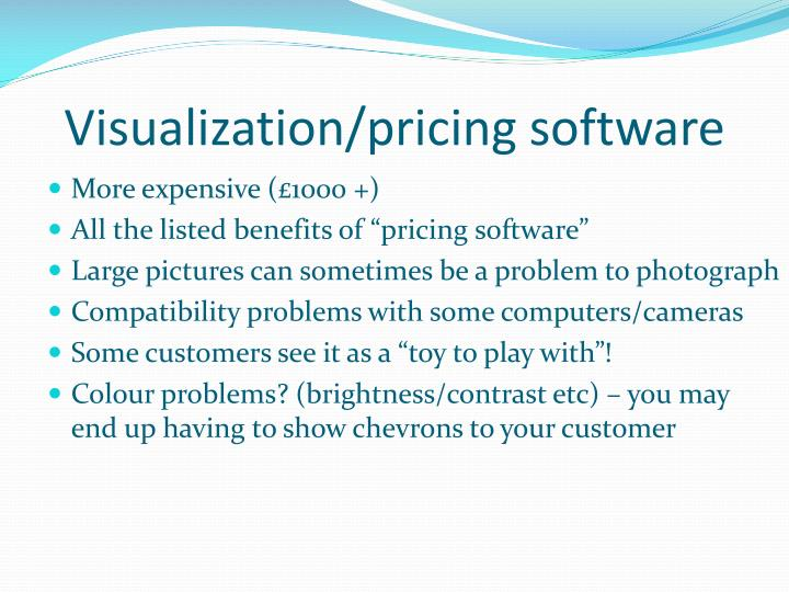 Visualization/pricing software