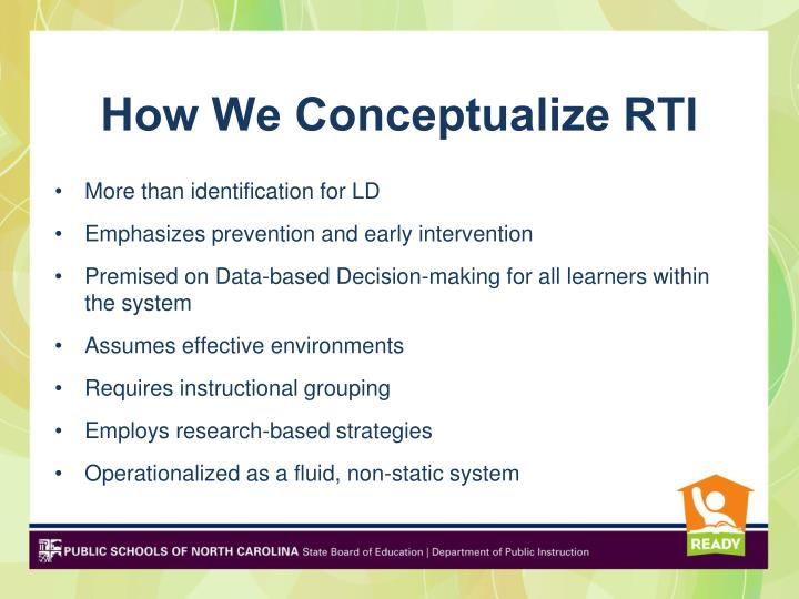 How We Conceptualize RTI